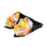 Duo de témakis aux crevettes, à la mangue, au sésame et au wasabi SuandShi